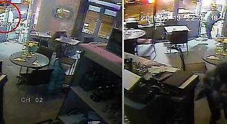 Βίντεο-σοκ: Η στιγμή που τρομοκράτης ανοίγει πυρ σε εστιατόριο στο Παρίσι