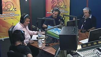 Ντέμης-Καραγκούνης-Νικοπολίδης  στο στούντιο του ΣΠΟΡ FM 94.6 (Μέρος β)