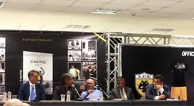 Ο Λευτέρης Παπαδόπουλος στην παρουσίαση της αυτοβιογραφίας του Θωμά Μαύρου