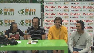 Μπάρκας και Λαμπρόπουλος στο event του ΣΠΟΡ FM στο Athens Metro Mall