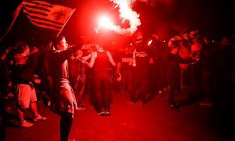 Το «πάρτι» των ΑΕΚτζήδων στη Νέα Φιλαδέλφεια (2)