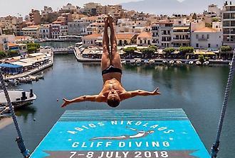 Νυχτερινό show Cliff Diving 2018, Άγιος Νικόλαος