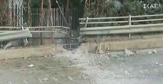 ΣΚΑΪ: Βομβαρδισμένο τοπίο – O κρατήρας της ισχυρής έκρηξης