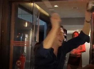 Ο Λούκα Μπάνκι οργάνωσε σύνθημα στο γλέντι της ΑΕΚ