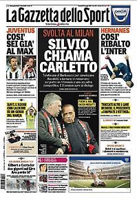 Πρωτοσέλιδο εφημερίδας Gazzeta dello Sport