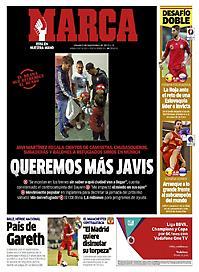 Πρωτοσέλιδο εφημερίδας Marca