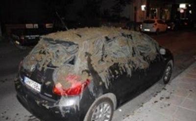 Γέμισαν με κοπριά αμάξι βουλευτή!
