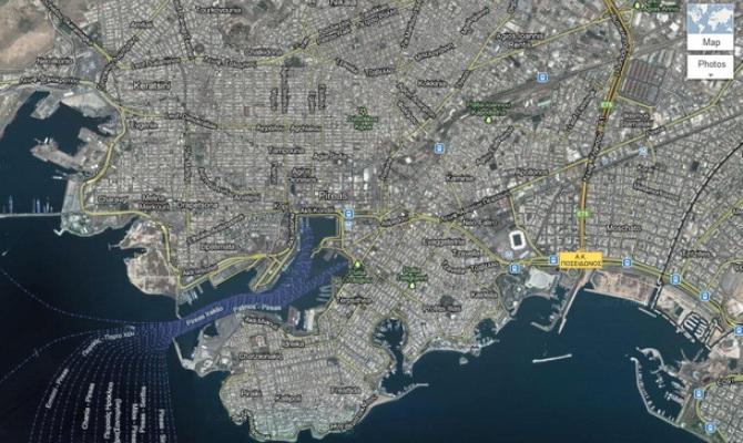 Η Google ανανέωσε τους Google χάρτες της Ελλάδας
