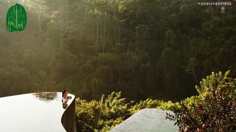 Τα λόγια είναι περιττά για τη θέα από την πισίνα του Ubud Hanging Gardens.