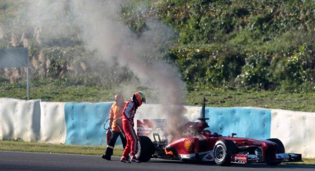 Πήρε φωτιά η Ferrari