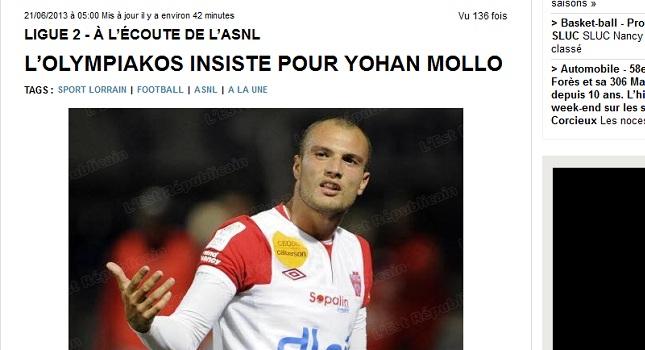 «Επιμένει για Μολό ο Ολυμπιακός»