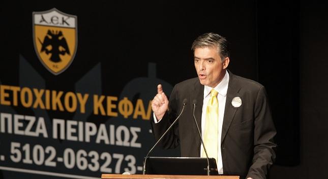 Ευαγγελάτος: «Το γήπεδο της ΑΕΚ θα γίνει»