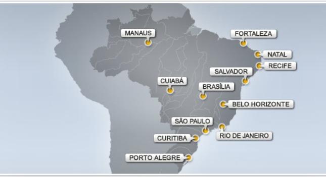 Ο χάρτης των γηπέδων της Εθνικής