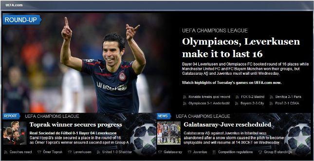 Πρώτος στην UEFA