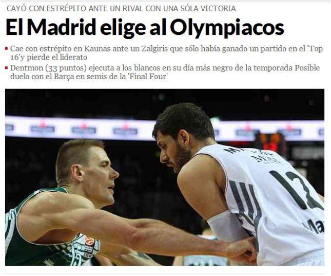 Marca: «Η Ρεάλ επέλεξε Ολυμπιακό»