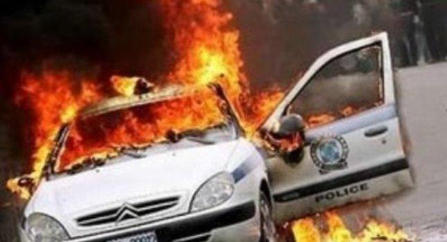 Έκαψαν περιπολικό στο ΟΑΚΑ!
