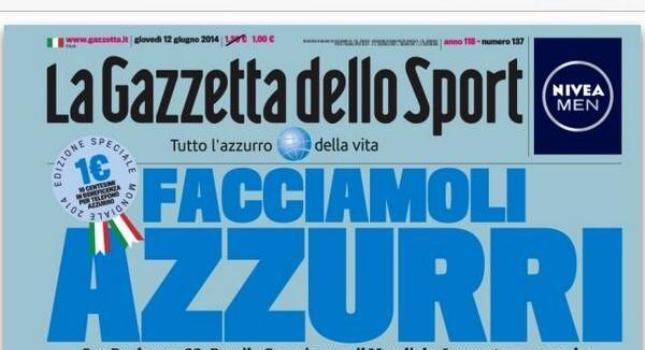 Όλη η Gazzetta είναι μπλε!