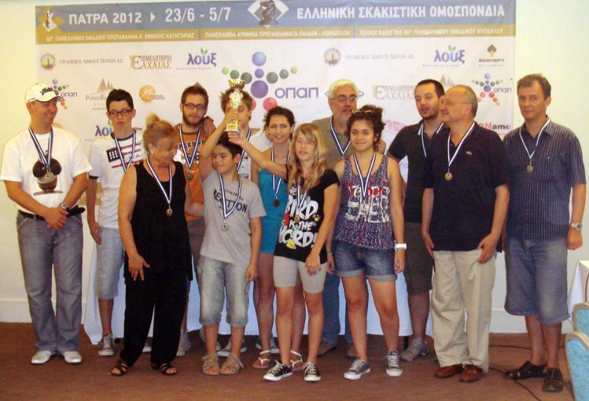Οι Πρωταθλητές και οι Κυπελλούχοι Ελλάδας στο σκάκι
