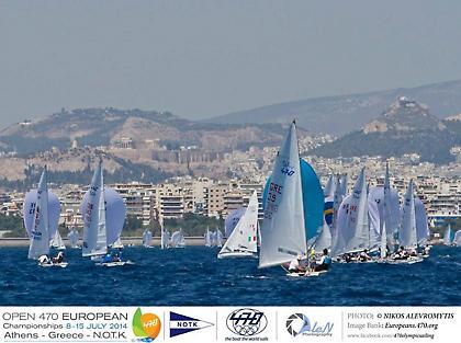 Με επιτυχία συνεχίζεται το Open 470 European Championships στο Ν.Ο.Τ.Κ.