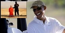 Ο Ομπάμα πήγε για γκολφ μετά τη δακρύβρεχτη δήλωση για Φόλεϊ