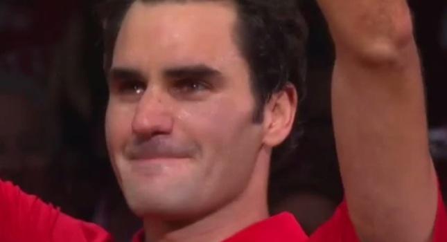 Όταν δάκρυσε ο Φέντερερ… (video)