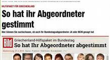 Bild προς Γερμανούς: Έτσι ψήφισαν οι βουλευτές σας και συνεχίζει να ρέει το χοντρό χρήμα στην Ελλάδα