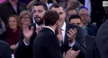 Χειροκροτήθηκε (και) ο Μπουρούσης στο «Μπερναμπέου»! (video)