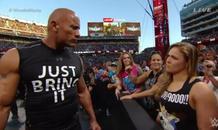 Απολαύστε την Ronda Rousey και τον Rock στη Wrestlemania