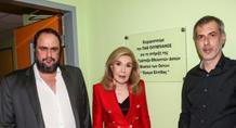 Η Μαριάννα Βαρδινογιάννη τίμησε τον Ολυμπιακό