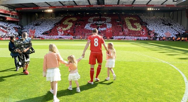 You' ll never walk alone, Gerrard... (pics/video)