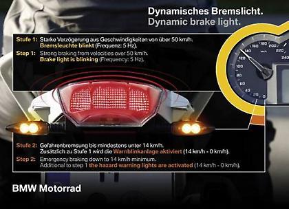 Η BMW Motorrad λανσάρει το dynamic brake light
