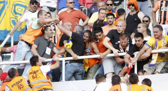 Ένταση με τους ΑΠΟΕΛίστες στα Σκόπια! (pics)