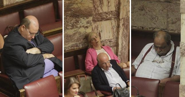 Έπεσε ύπνος στη Βουλή… (pics)