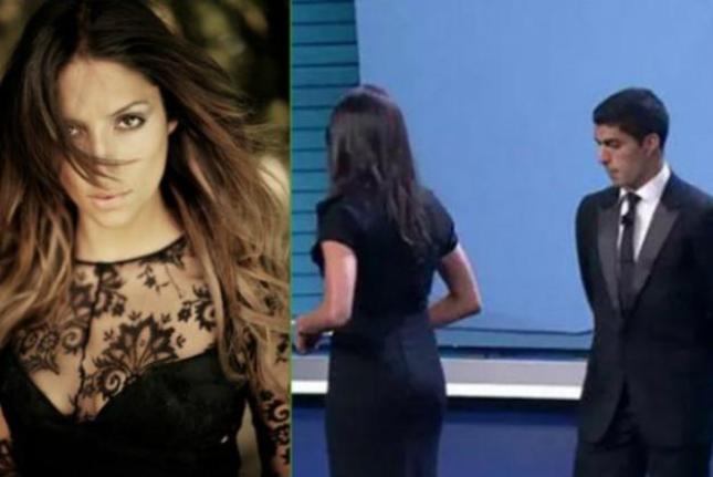 «Ακτινογράφησε» την… παρουσιάστρια ο Σουάρες! (video/pics)