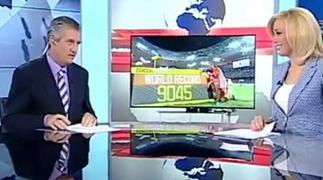 «Πέσιμο» On Air από δημοσιογράφο σε παρουσιάστρια της ΕΡΤ (video)