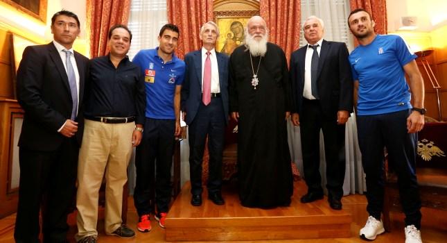 Επισκέφτηκε τον Αρχιεπίσκοπο η ΕΠΟ και η Εθνική