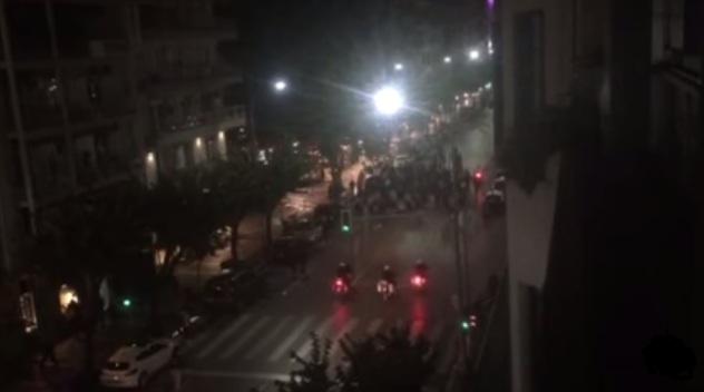 Πορεία οπαδών Ντόρτμουντ και Άρη στη Θεσσαλονίκη (video)