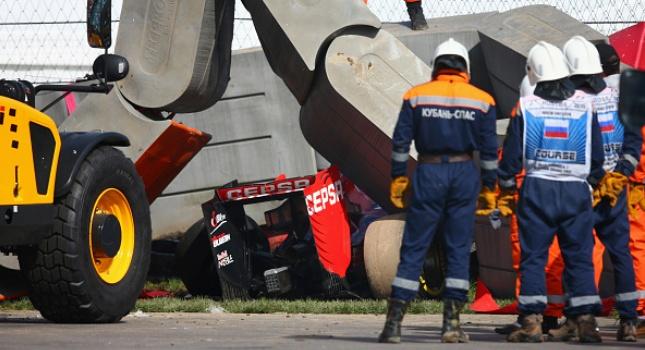 Καρέ-καρέ το σοκαριστικό ατύχημα του Σάινθ (pics)