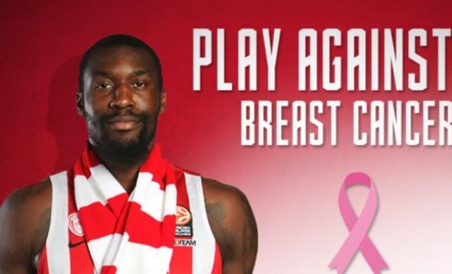 Ερυθρόλευκο μήνυμα κατά του καρκίνου του μαστού