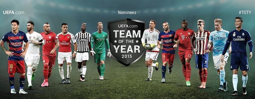 Οι υποψήφιοι για την κορυφαία ομάδα της χρονιάς από την UEFA