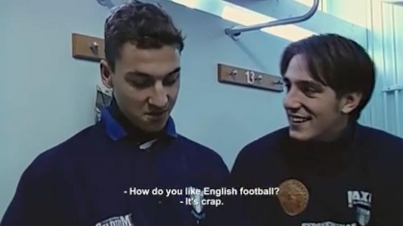 Στα 19 του ο Ζλάταν «έριχνε χυλόπιτα» στην Αγγλία (video)