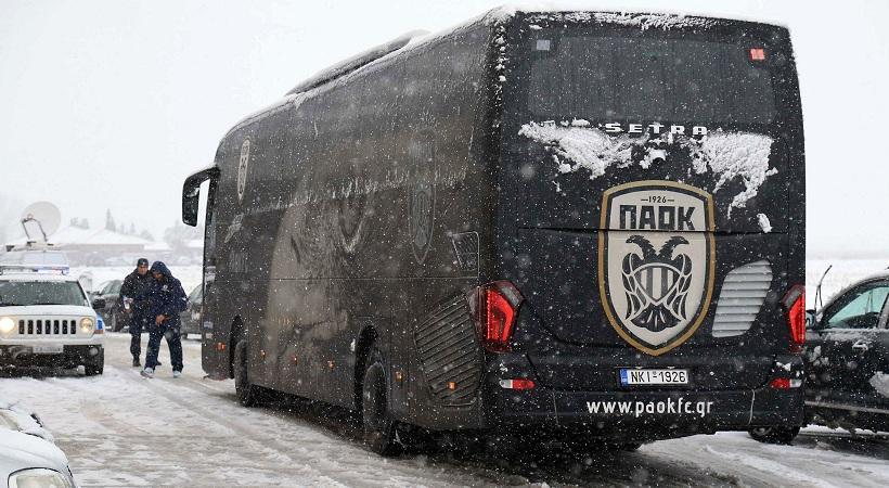 Η selfie ποδοσφαιριστών του ΠΑΟΚ από το… χιόνι