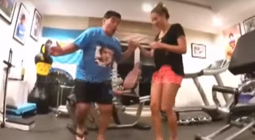 Ο χορός του μερακλή Μαραντόνα και το  «γλέντι» σε Μπλάτερ-Πλατινί (video)