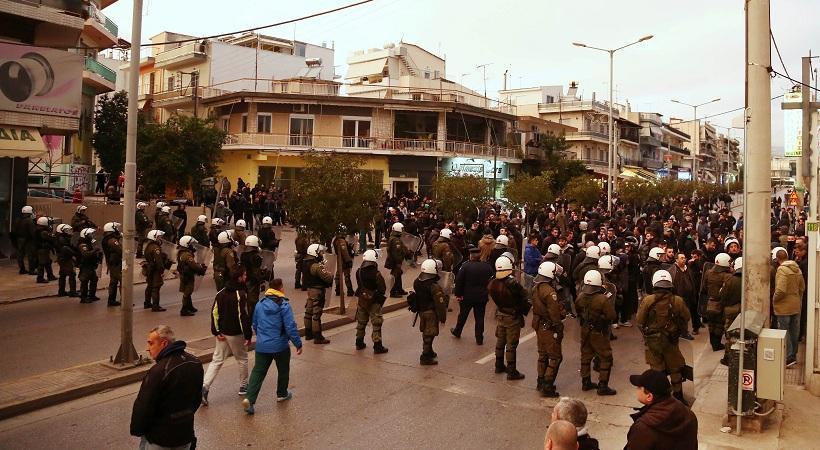 Η πορεία των φίλων του Παναθηναϊκού στο Περιστέρι! (pics)