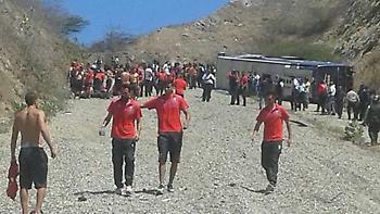 Ανατράπηκε το λεωφορείο της Ουρακάν, μετά από ματς για το Κόπα Λιμπερταδόρες (pics/video)