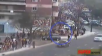 Βίντεο-σοκ με οπαδό της Ρεάλ να χτυπάει με το αμάξι του φίλους της Μπάρτσα! (video)