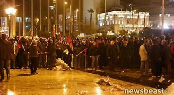 Μικροένταση στο συλλαλητήριο των αγροτών (pics/video)