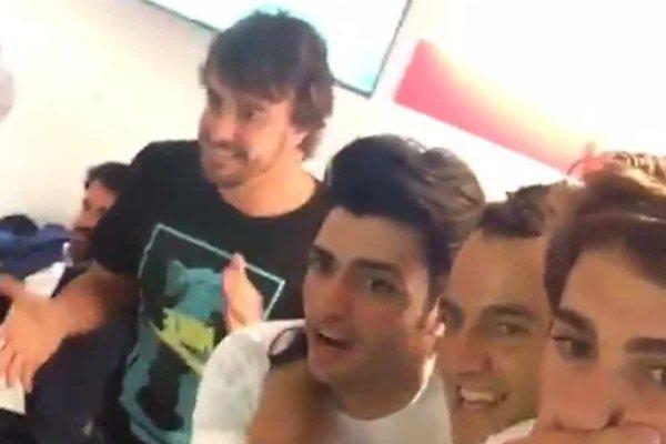 Πανηγύρισαν για Ρεάλ Φερνάντο Αλόνσο και Κάρλος Σάινθ (video)