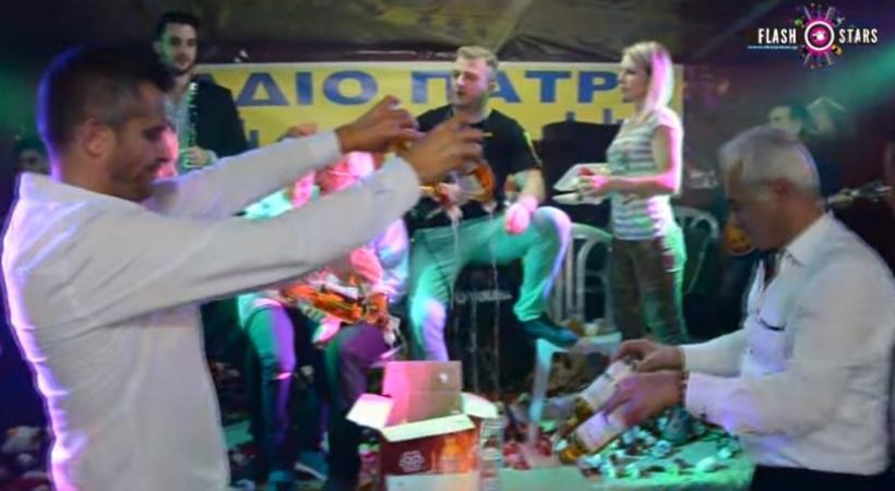 Μεράκλωσε και παρήγγειλε 24 μπουκάλια ουίσκι για να τα… κάψει στην πίστα! (video)