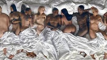 Δείτε τον Kάνιε Γουεστ γυμνό στο κρεβάτι με τους... Ντόναλντ Τραμπ, Μπιλ Κόσμπι και Κέιτλιν Τζένερ!